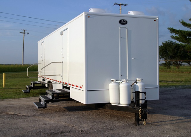 High End, Fancy Restroom Trailer Rentals in Wake Forest, North Carolina With Heating & A/C Systems