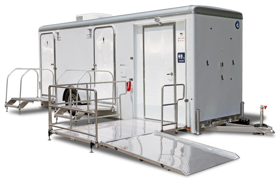 ADA Compliant Handicapped Wheelchair Accessible Restroom Trailer Rentals in Wake Forest NC